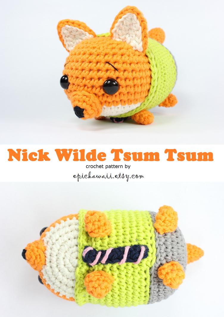 Nick Wilde Zootopia Tsum Crochet Doll by Npantz22