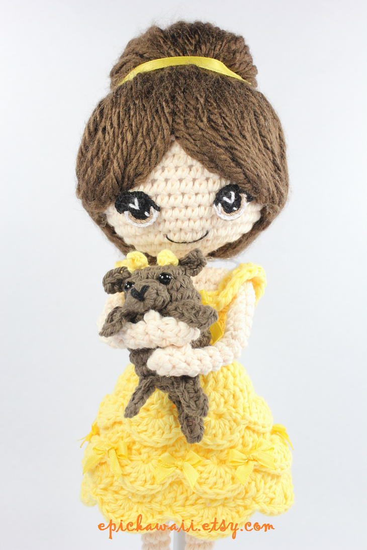 Beauty and the Beast Crochet Amigurumi Dolls by Npantz22