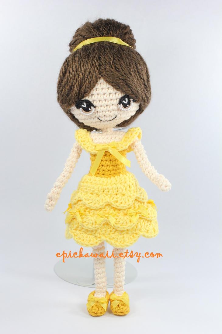 Beauty and the Beast Crochet Amigurumi Doll by Npantz22