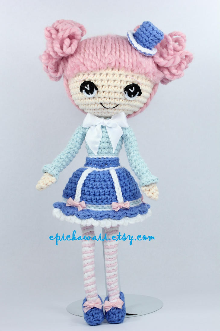 Alice in Wonderland Crochet Amigurumi Doll by Npantz22