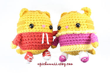 Daniel Tiger and Margaret Crochet Amigurumi Dolls by Npantz22