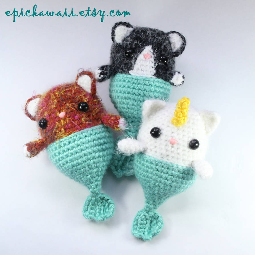 Fairy Unicorn Mermaid Cat Caticorn Purrmaid Dolls by Npantz22