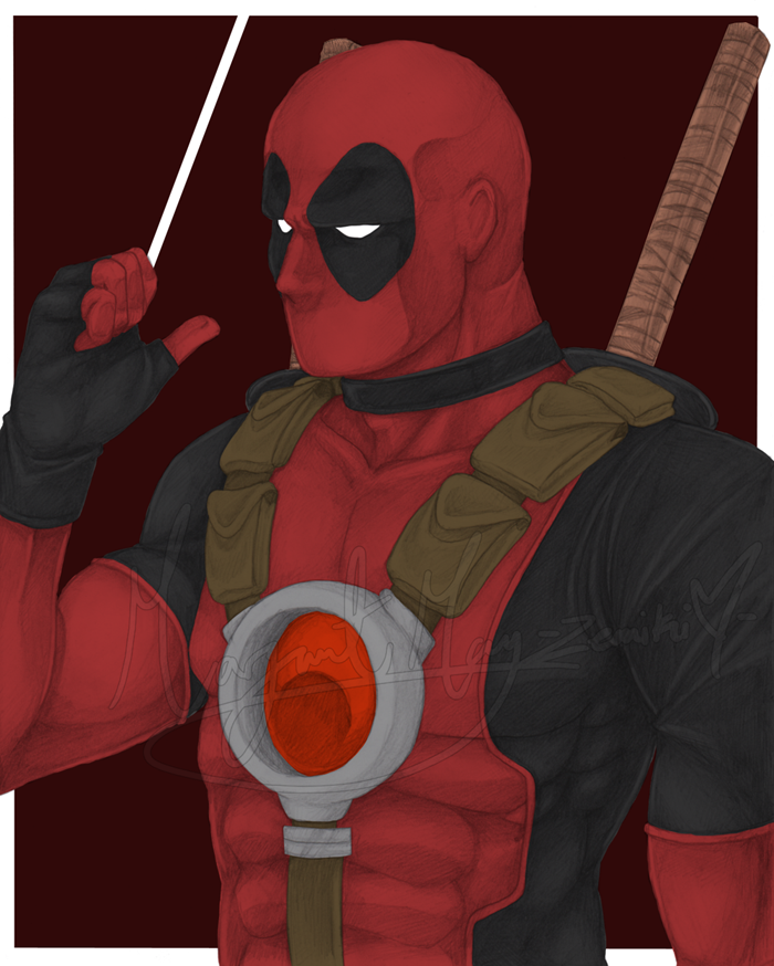 F - Deadpool by Zemiki