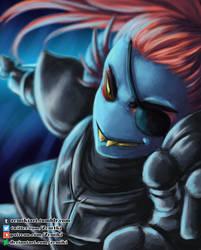 Undyne fight by Zemiki