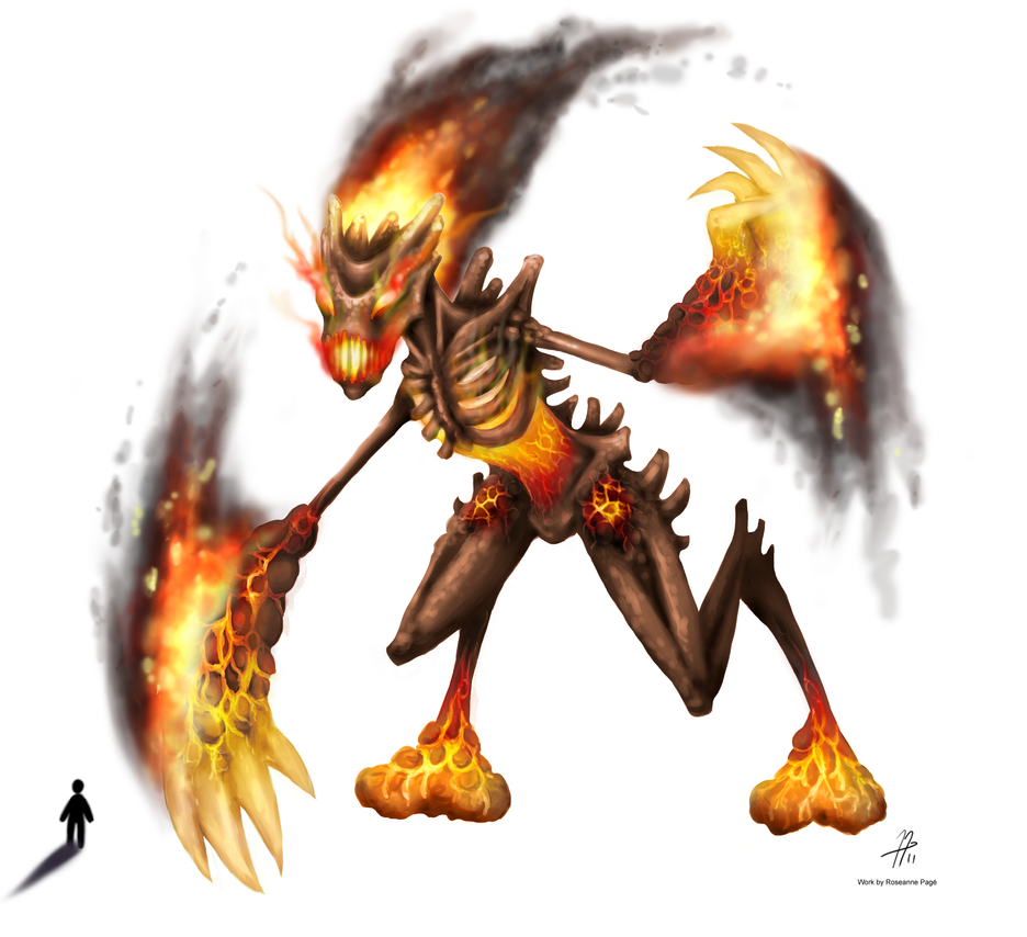 Rift Fire Colossus by roseannepage