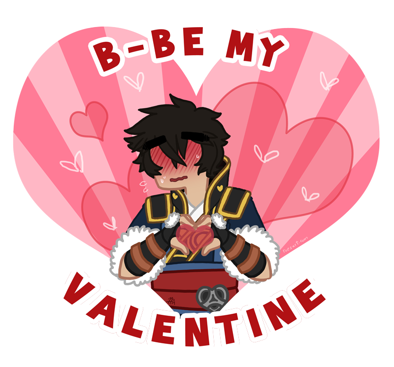 Valentine's day card Lon'qu by roseannepage
