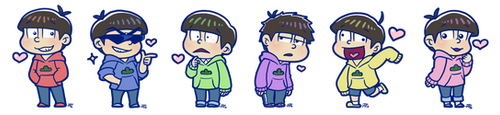 Matsuno Brothers by roseannepage
