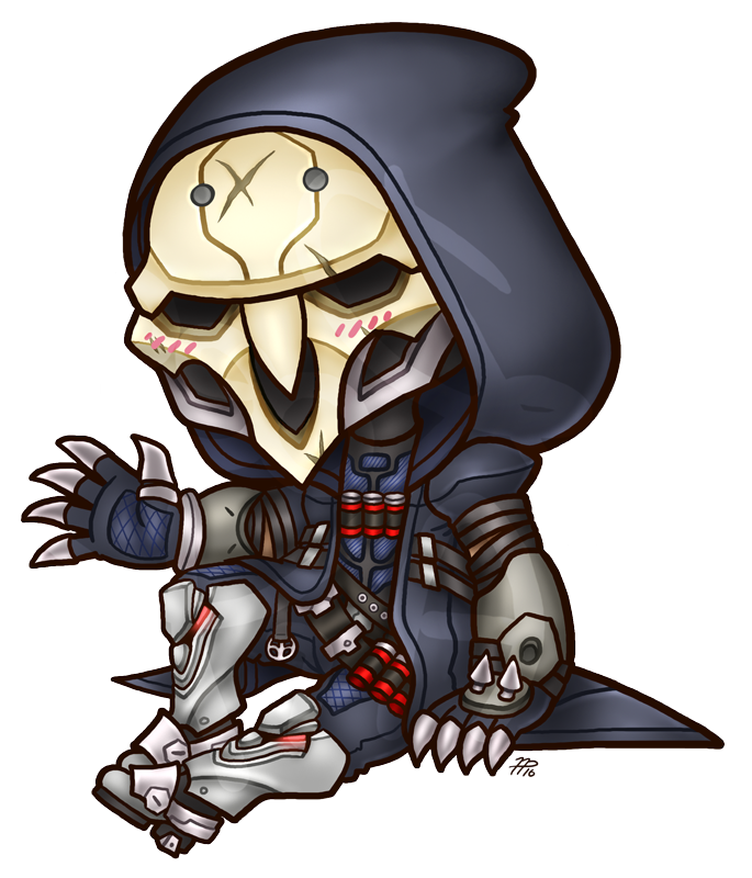 Chibi Overwatch: Reaper by roseannepage