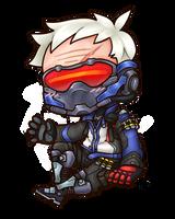 Chibi Overwatch: Soldier 76 by roseannepage