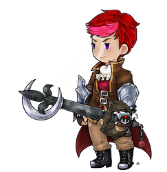 Com: FF3 style Blake with keyblade