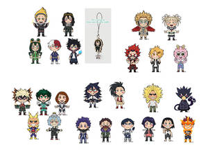 BNHA Wooden charms for preorder