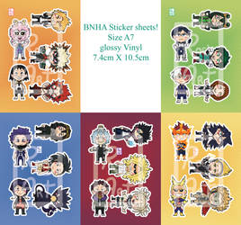 BNHA Sticker Sheets for preorder
