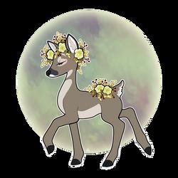 Roe deer full by roseannepage