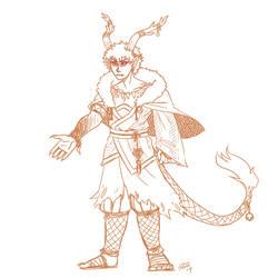 sketch dragon fire god Bakugo design