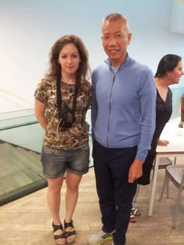 With Cai GuoQiang