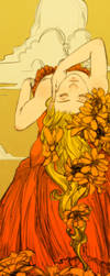 Orange Cosmos Bookmark Revised by Newsha-Ghasemi