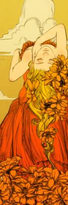 Orange Cosmos Bookmark Revised