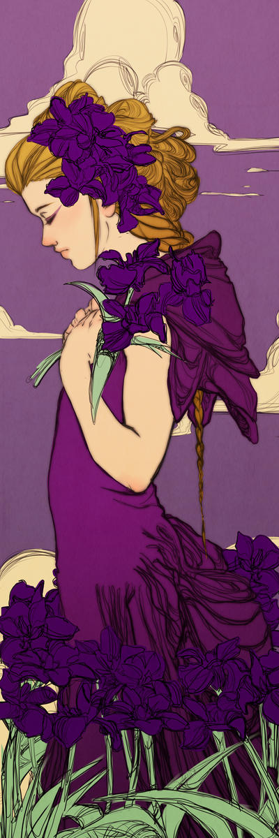 Violet Iris Bookmark Revised by Newsha-Ghasemi
