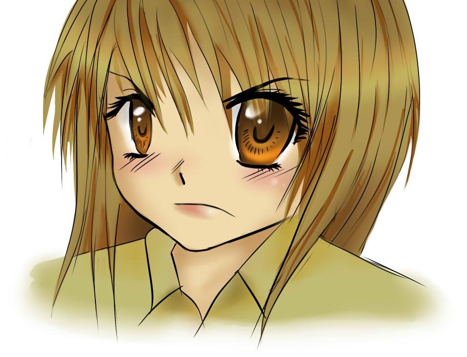 cute and angry manga girl by BillieKlemm