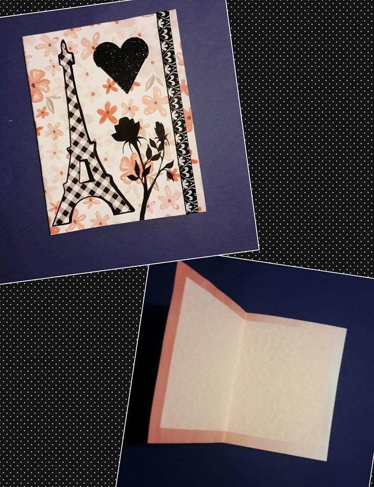 Elegant Eifel Tower Card by BillieKlemm