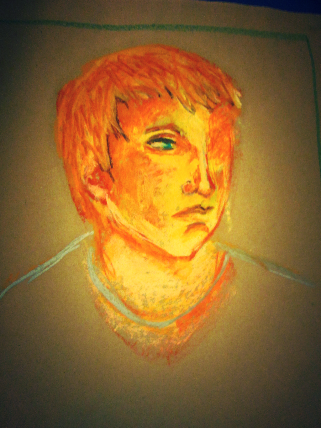 Glowing Oil Pastel Portrait by BillieKlemm