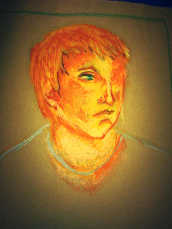 Glowing Oil Pastel Portrait by BillieKlemm