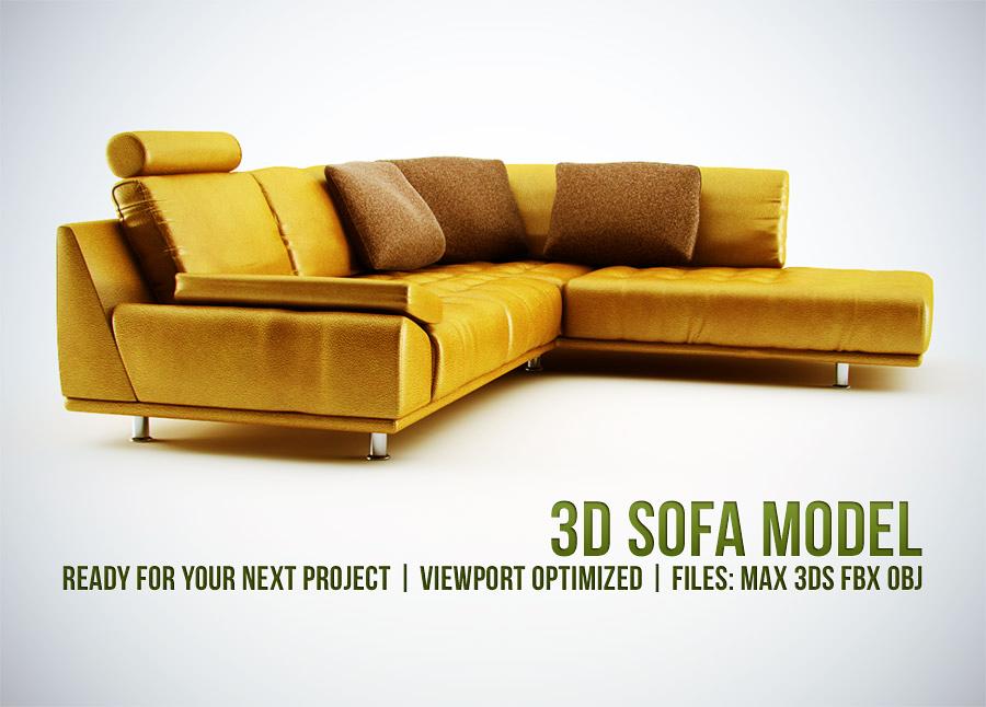 3D Sofa Model by csuz