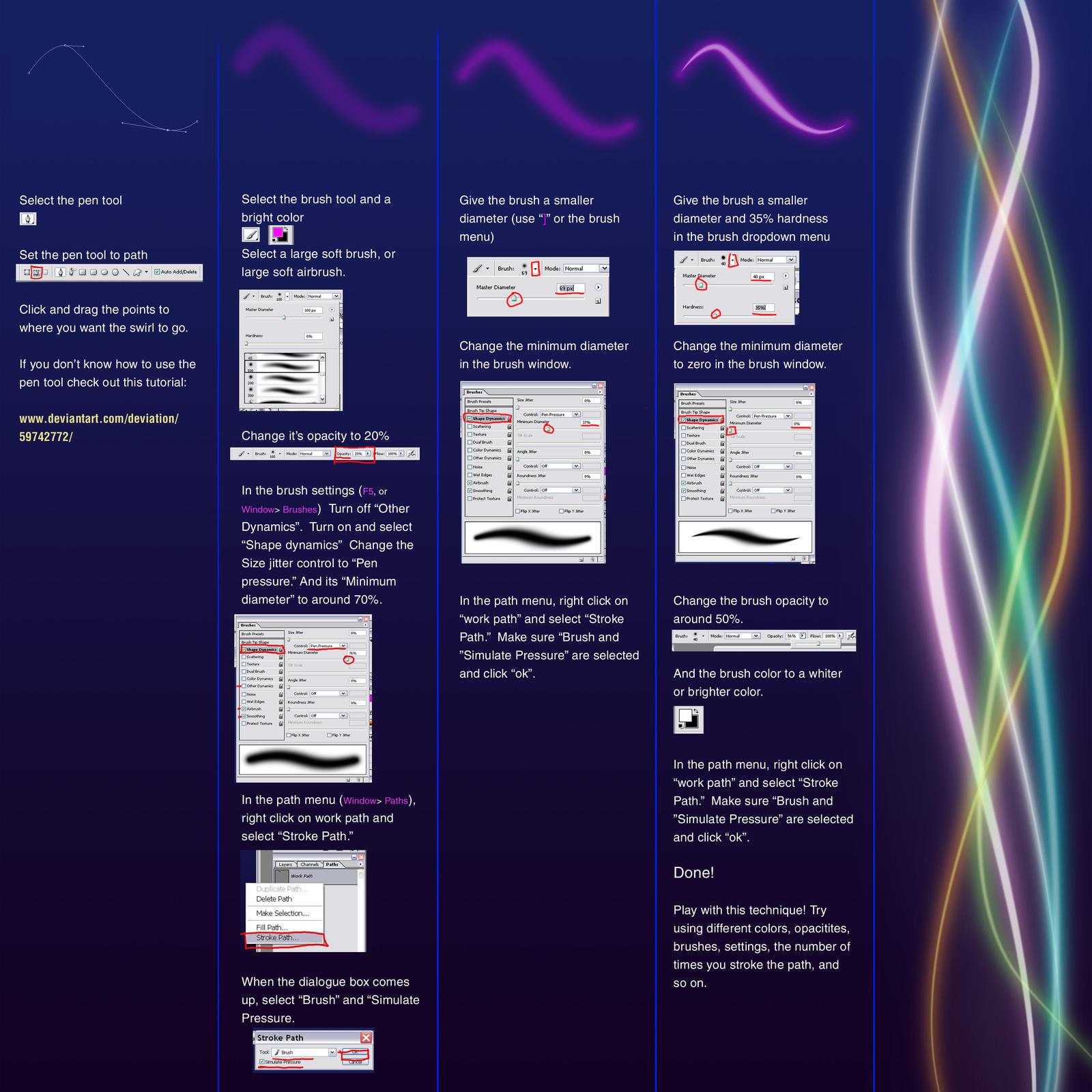 Magic Swirl tutorial by danzr4ever