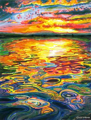 Ocean Sunset by danzr4ever