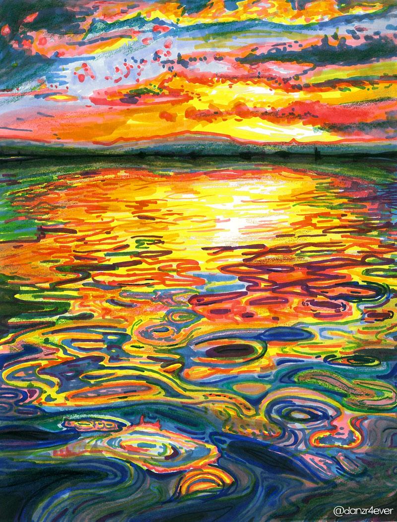 ocean sunset by danzr4ever on deviantart