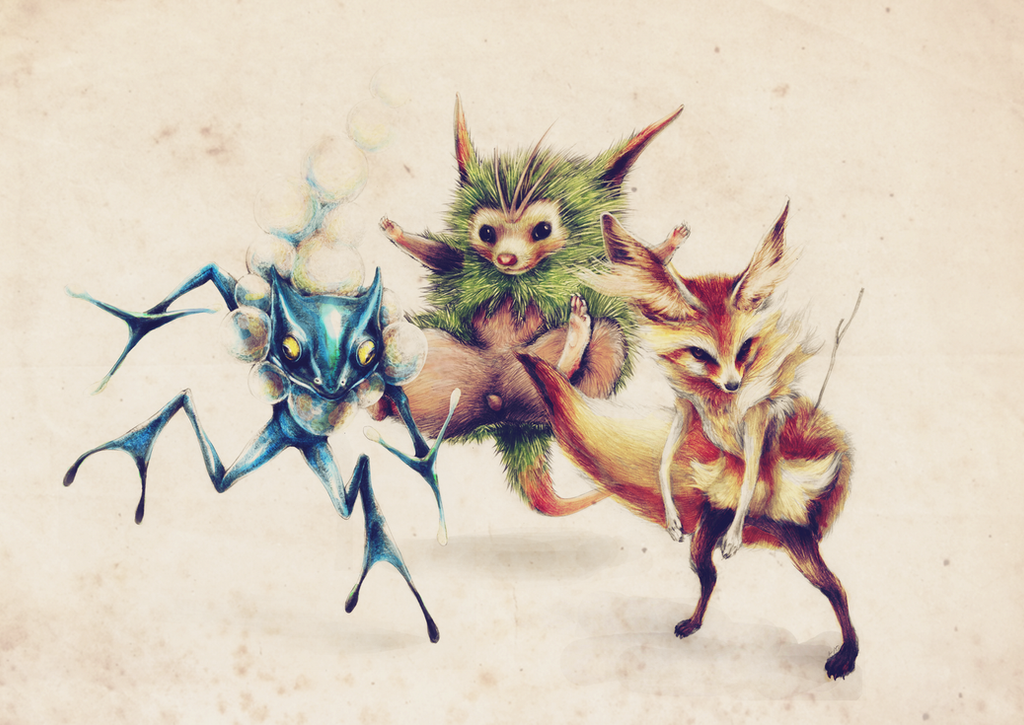 POKEMON X and Y 2nd-EVO-STARTER (COMPLETED) by Imaglelio