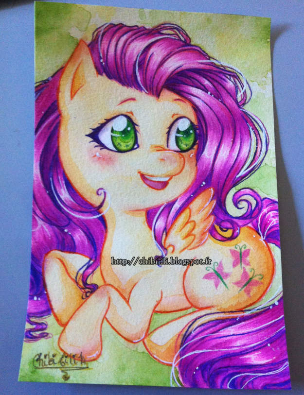 Watercolor - Fluttershy by Chibi-Lili
