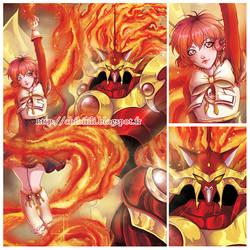 Hikaru and Rayearth by Chibi-Lili