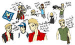 Walking Dead Sketches. by 13MorbidMouse13