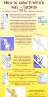 How to color Freiha's way p. 3 by Freiha