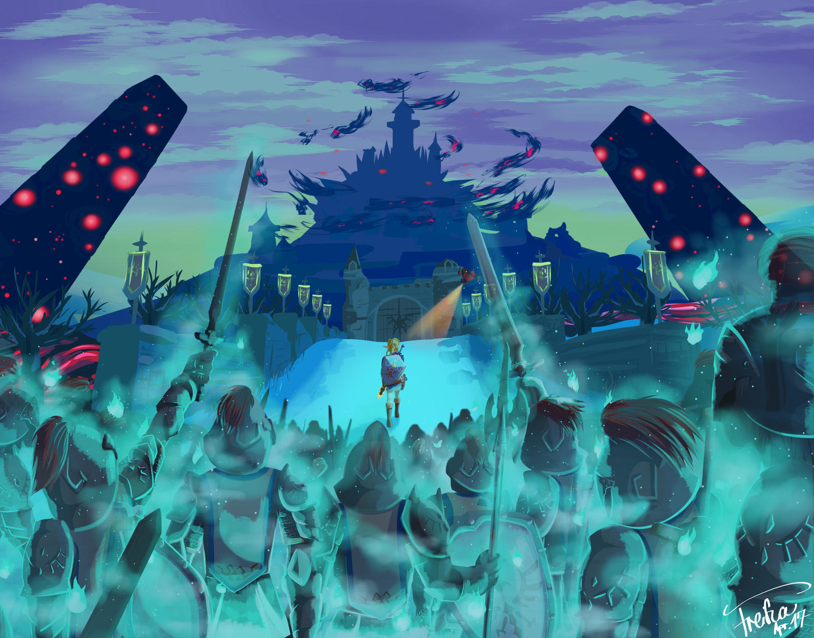 Invading Hyrule Castle By Freiha On Deviantart