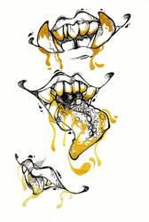 Golden Mawshots by LittleDisgustingBug