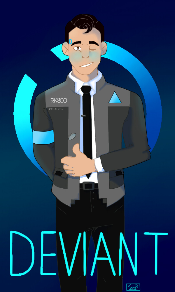 DEVIANT - CONNOR // DETRIOT: BECOME HUMAN by Sooz19444