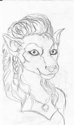 Portrait of Lutice In Progress..