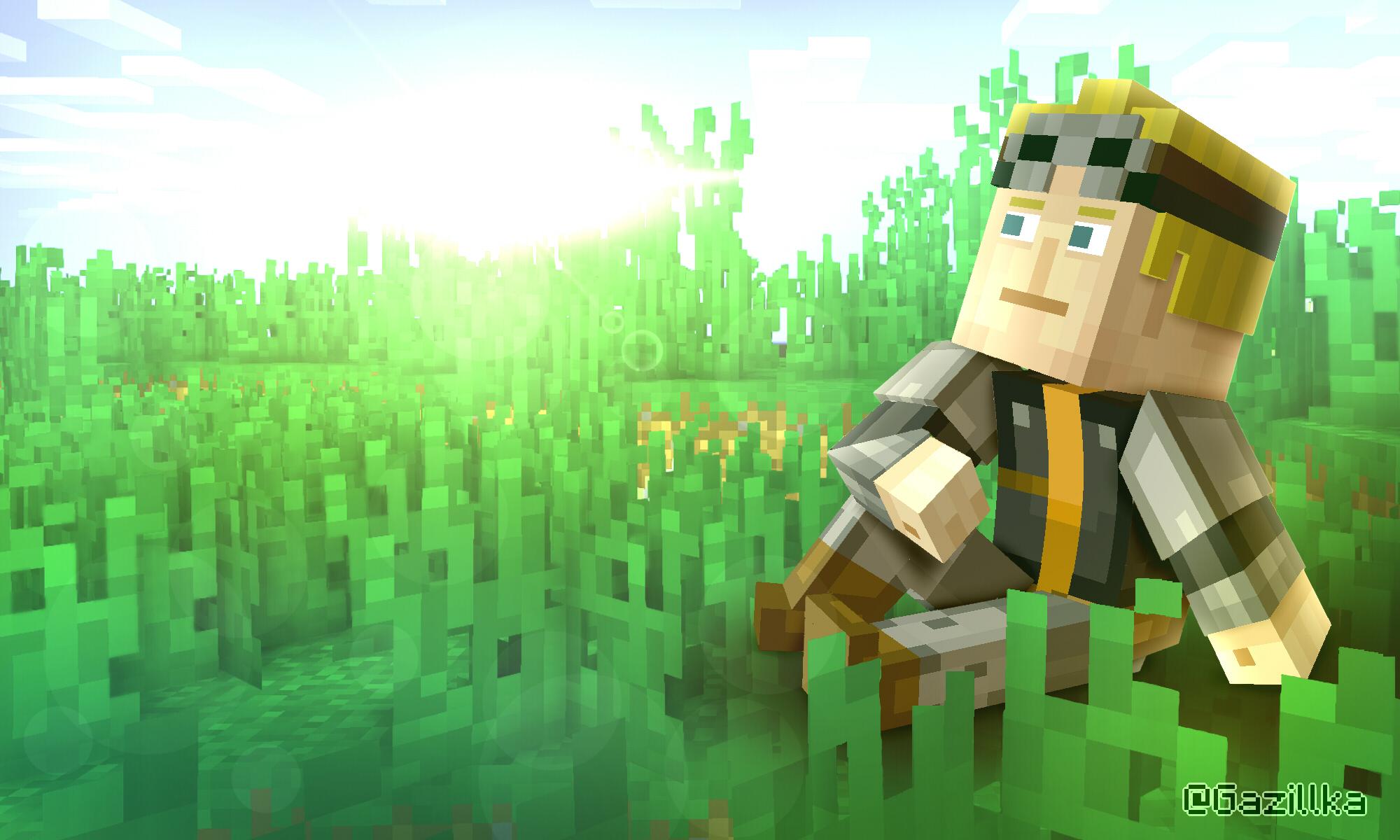 Minecraft Story Mode 2 Lukas Chilling By Gazillka On