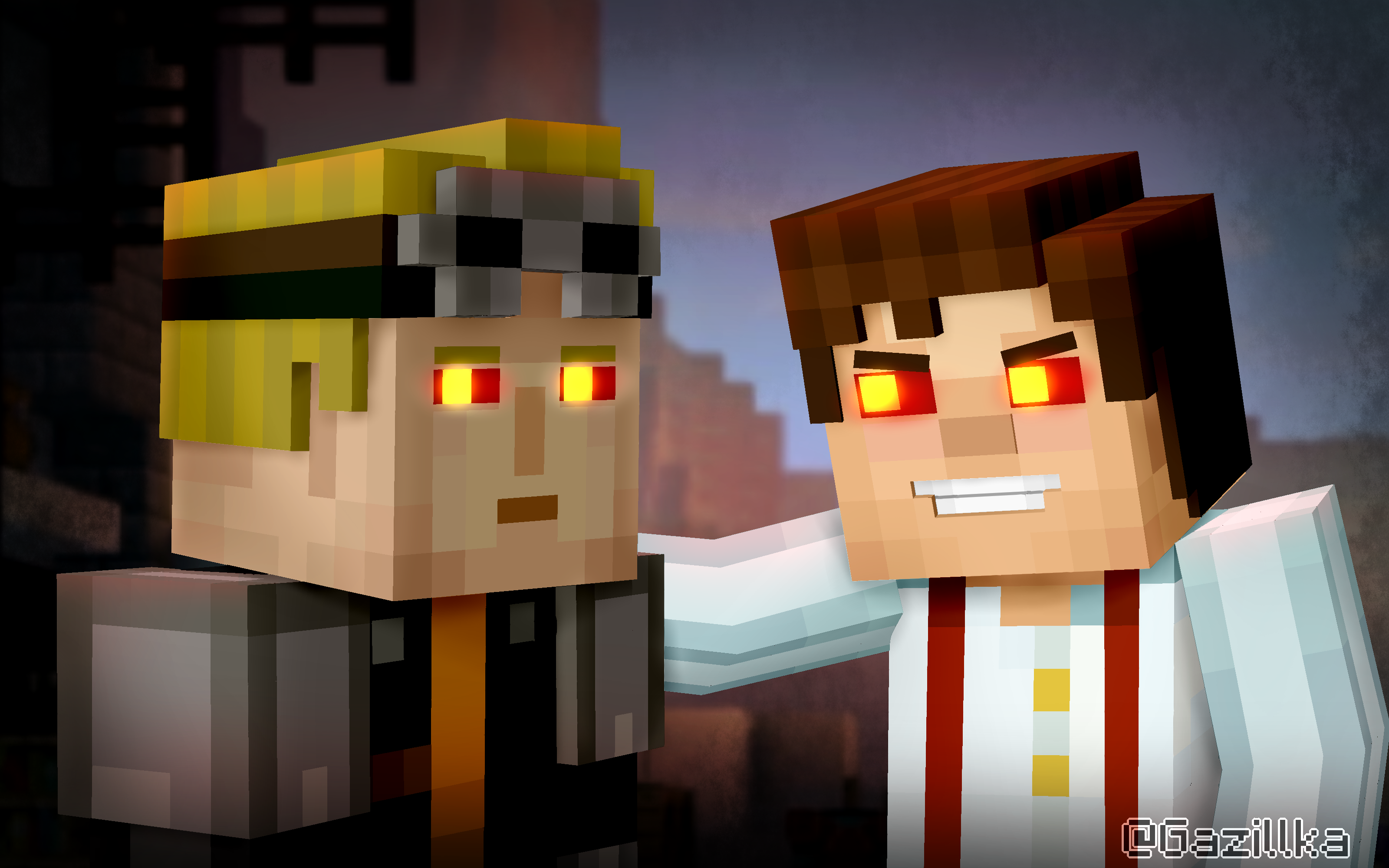 Minecraft Story Mode Evil Lukas And The Admin By Gazillka On