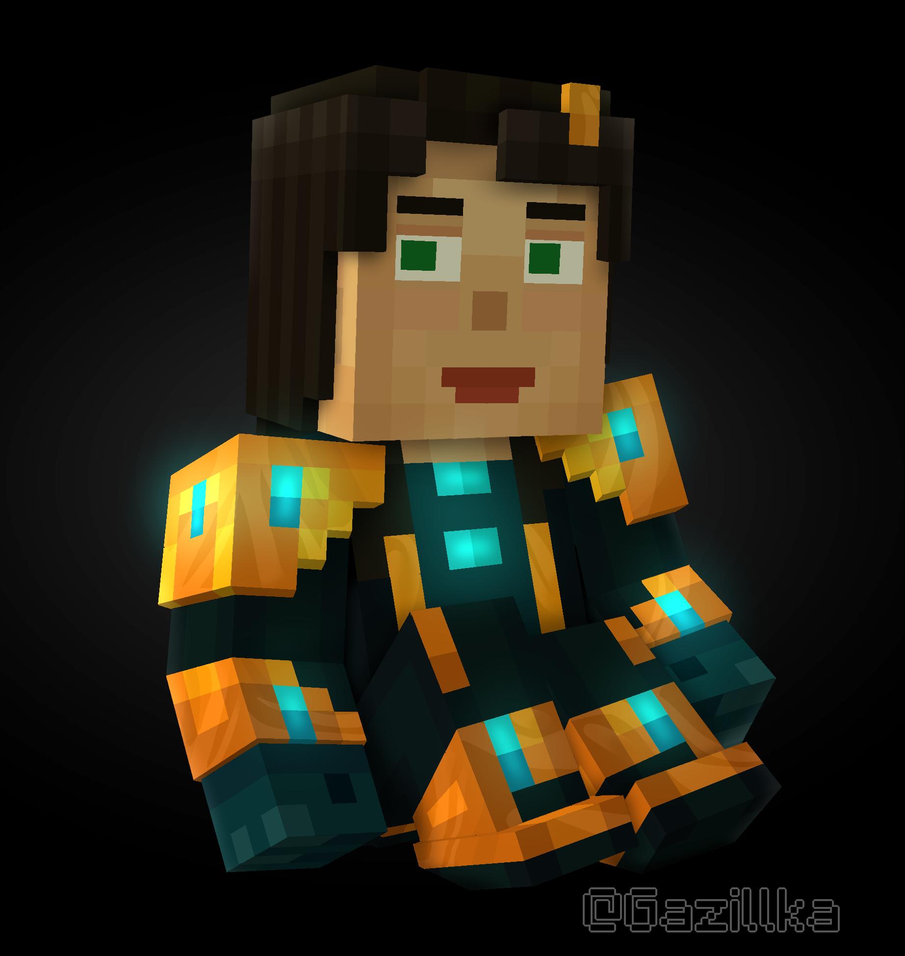Minecraft Story Mode Female Jesse By Gazillka On Deviantart