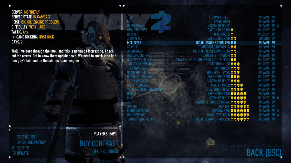 Payday 2 matchmaking issues