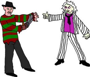 Beetlejuice vs Freddy by evil-ed316