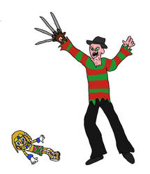 Freddy vs Tikal by evil-ed316