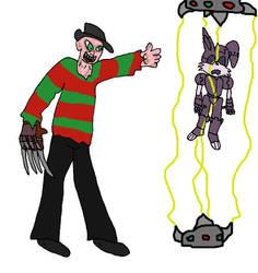 Freddy vs Bunnie by evil-ed316