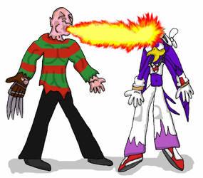 Freddy vs Wave by evil-ed316