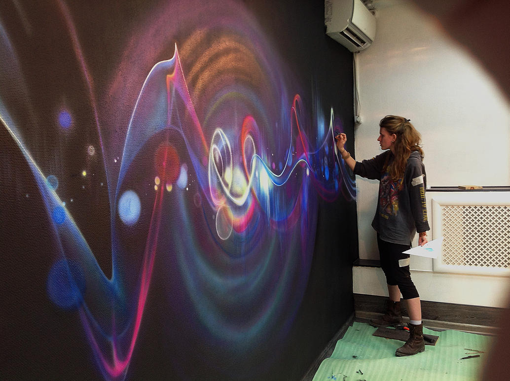 Wall painting airbrush brush by aelitadir on deviantart for Airbrushing mural