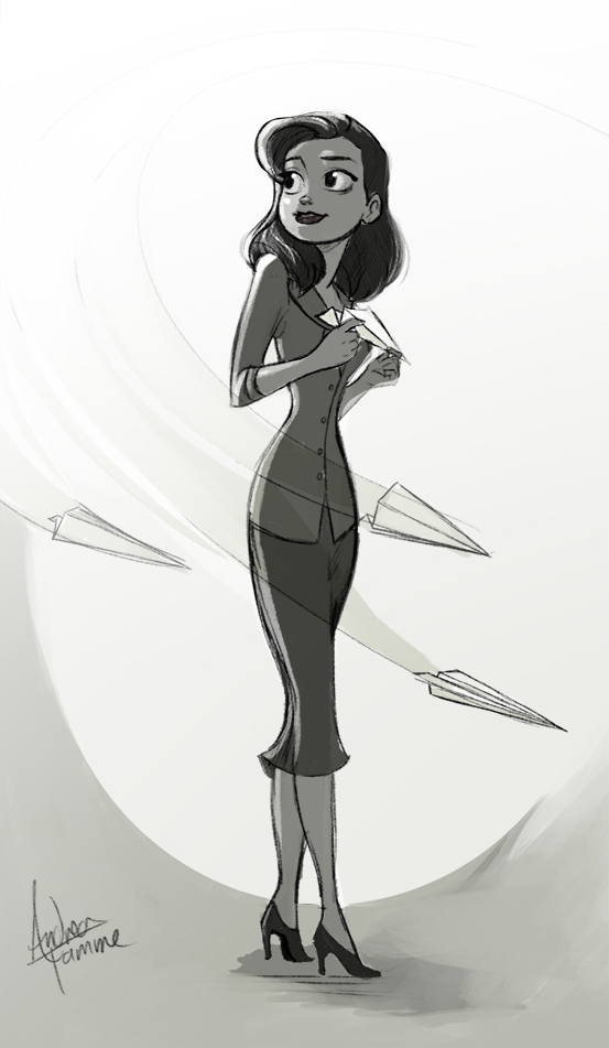 Paperman Doodlie by AndreaTamme