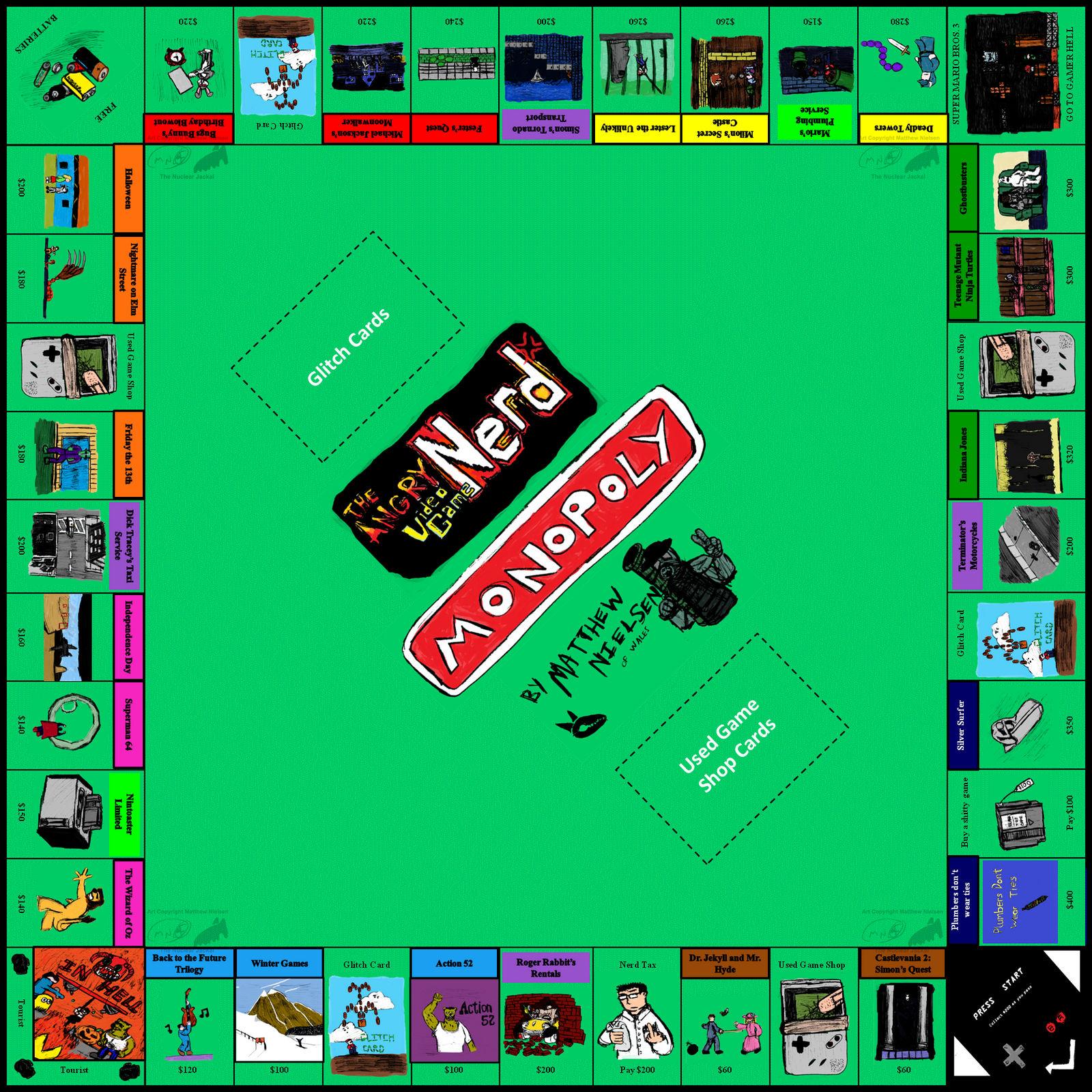 AVGN Monopoly fan art
